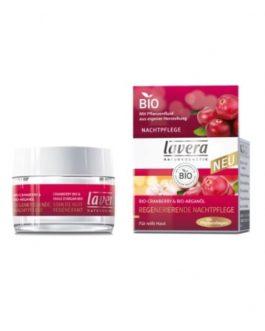 Κρέμα Αναδόμησης Νυκτός με βιολογικό cranberry & αργανέλαιο lavera
