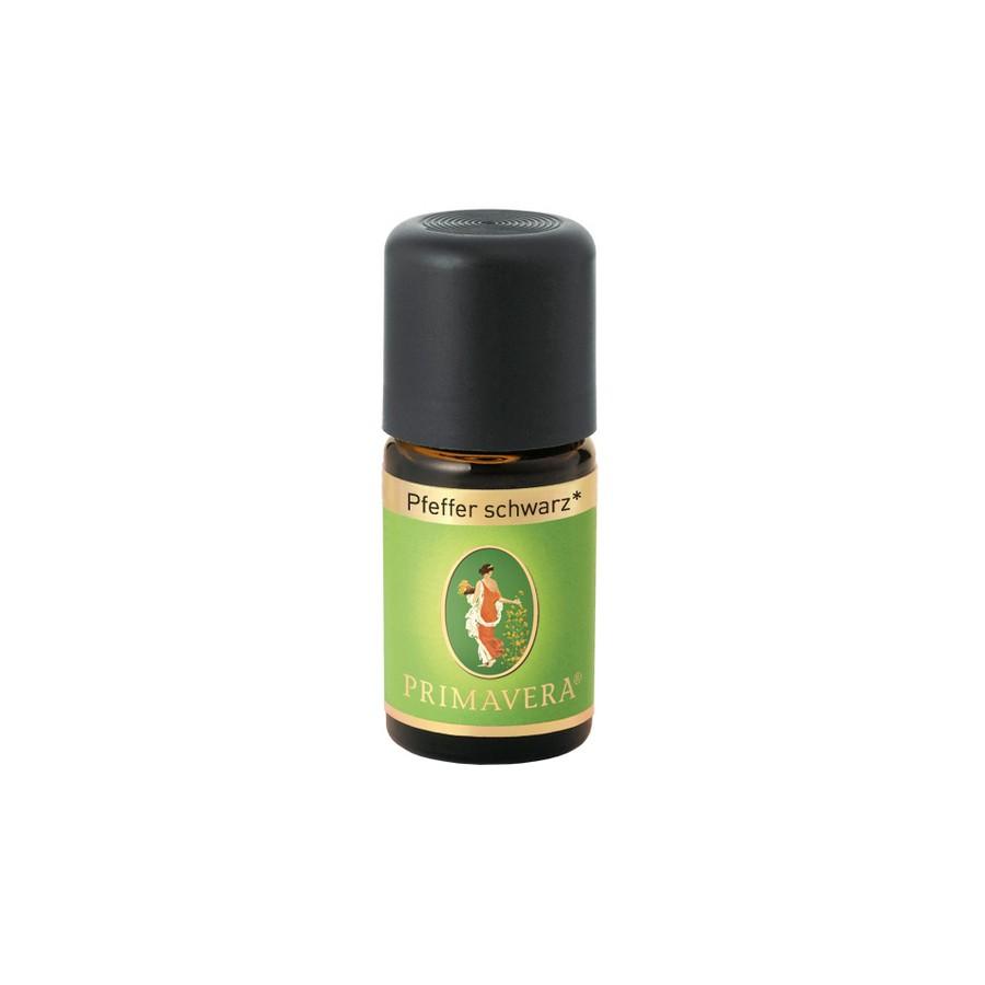 Βιολογικό αιθέριο έλαιο μαύρο πιπέρι 5ml – Primavera