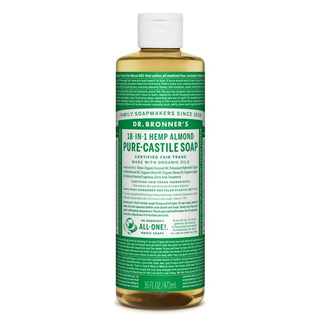 Αγνό υγρό σαπούνι Καστίλλης με αμύγδαλο 473ml – Dr. Bronner's
