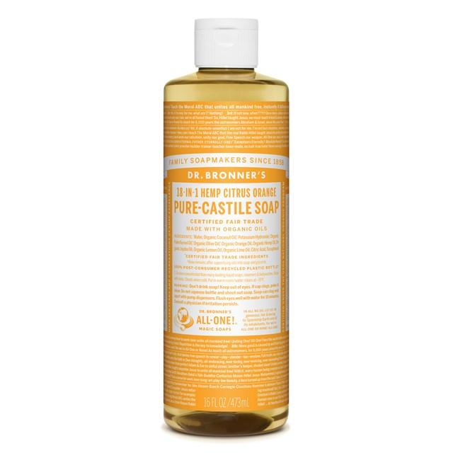 Αγνό υγρό σαπούνι Καστίλλης με Εσπεριδοειδή 473ml – Dr. Bronner's