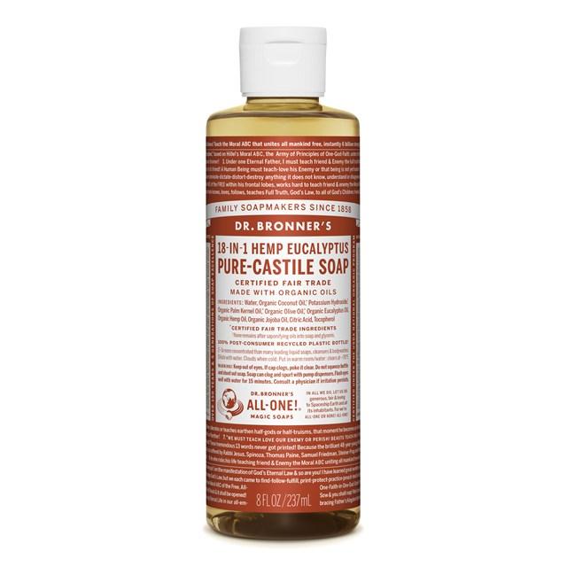 Αγνό υγρό σαπούνι Καστίλλης με ευκάλυπτο 237ml – Dr. Bronner's