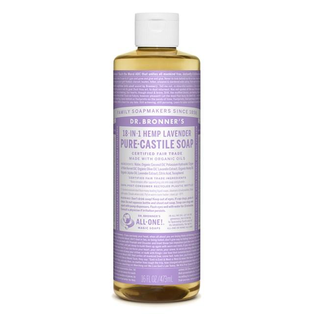 Αγνό υγρό σαπούνι Καστίλλης με λεβάντα 473ml – Dr. Bronner's