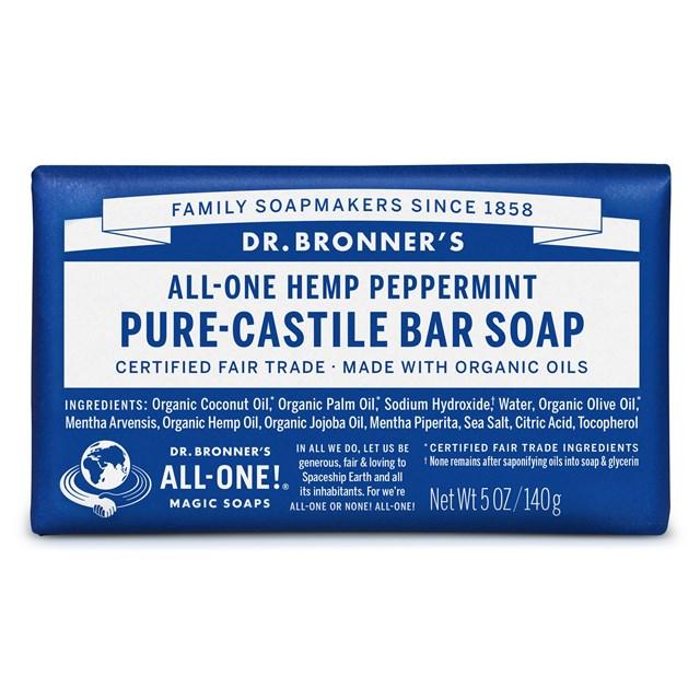 Αγνό σαπούνι Καστίλλης με μέντα – Dr. Bronner's