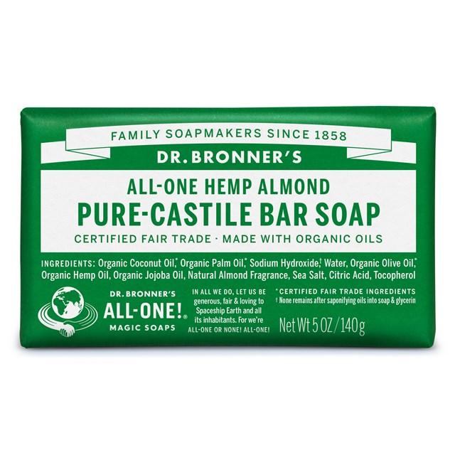 Αγνό σαπούνι Καστίλλης με αμύγδαλο – Dr. Bronner's