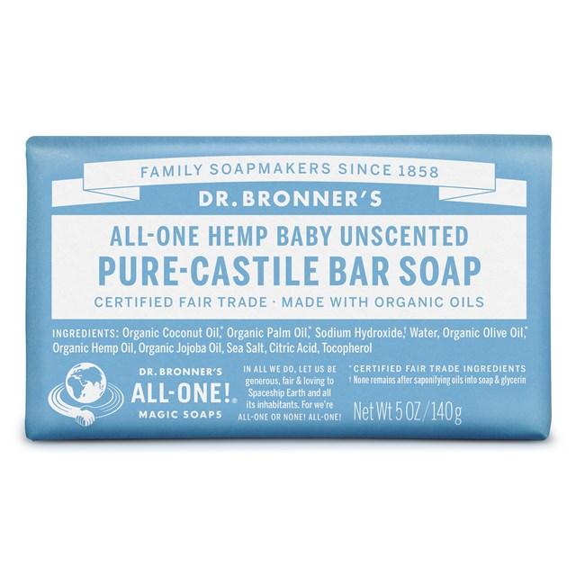Αγνό σαπούνι Καστίλλης Baby Unscented – Dr. Bronner's