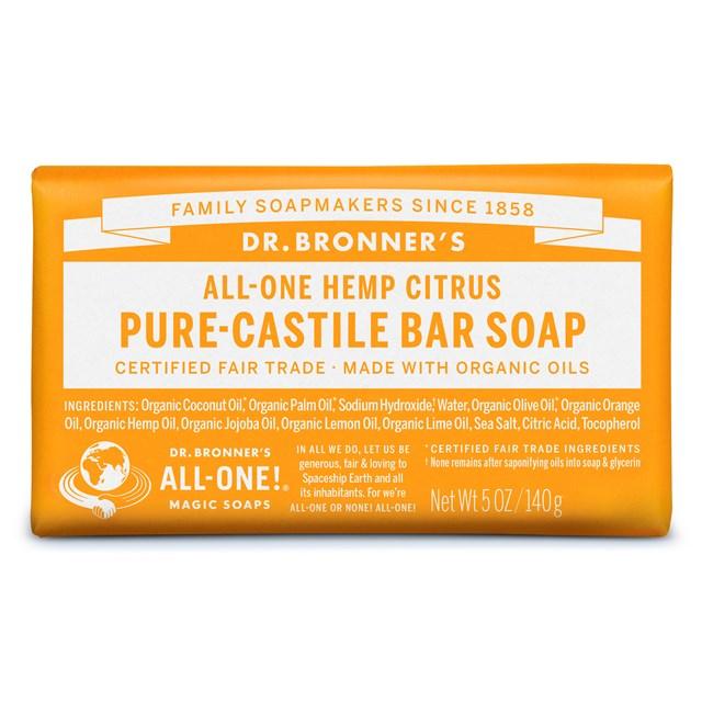 Αγνό σαπούνι Καστίλλης με Εσπεριδοειδή – Dr. Bronner's