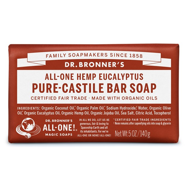 Αγνό σαπούνι Καστίλλης με Ευκάλυπτο – Dr. Bronner's
