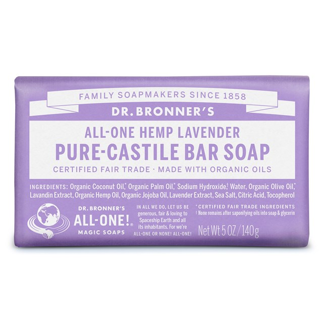 Αγνό σαπούνι Καστίλλης με λεβάντα – Dr. Bronner's