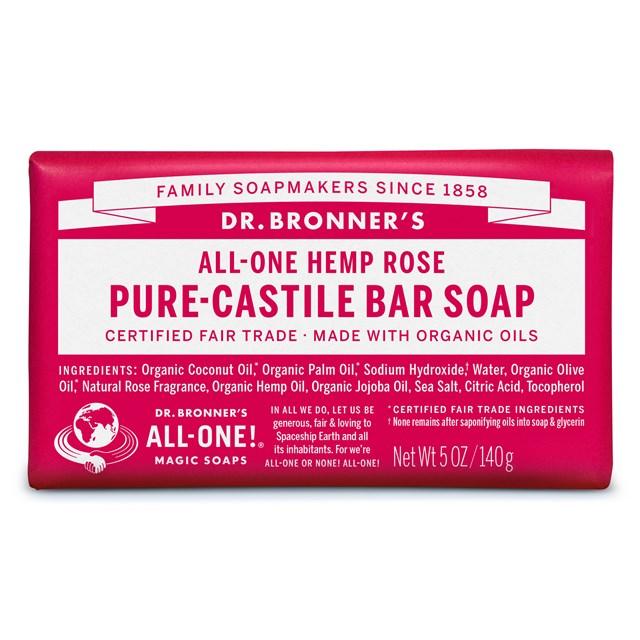 Αγνό σαπούνι Καστίλλης Rose – Dr. Bronner's