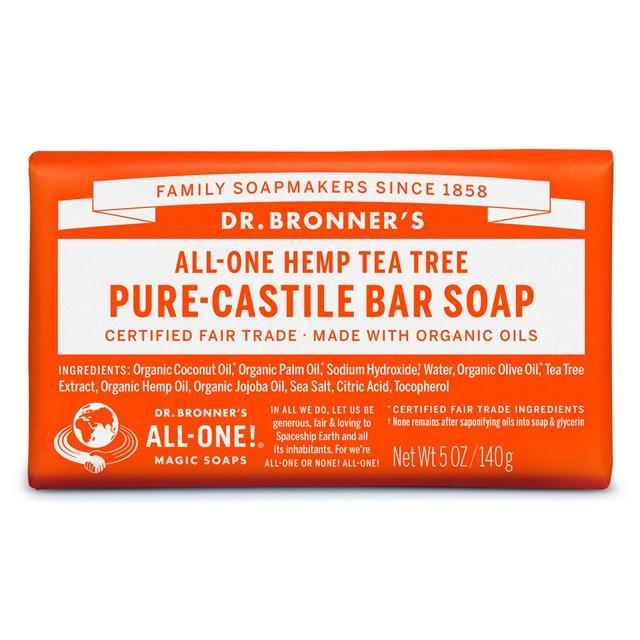 Αγνό σαπούνι Καστίλλης Tea Tree – Dr. Bronner's