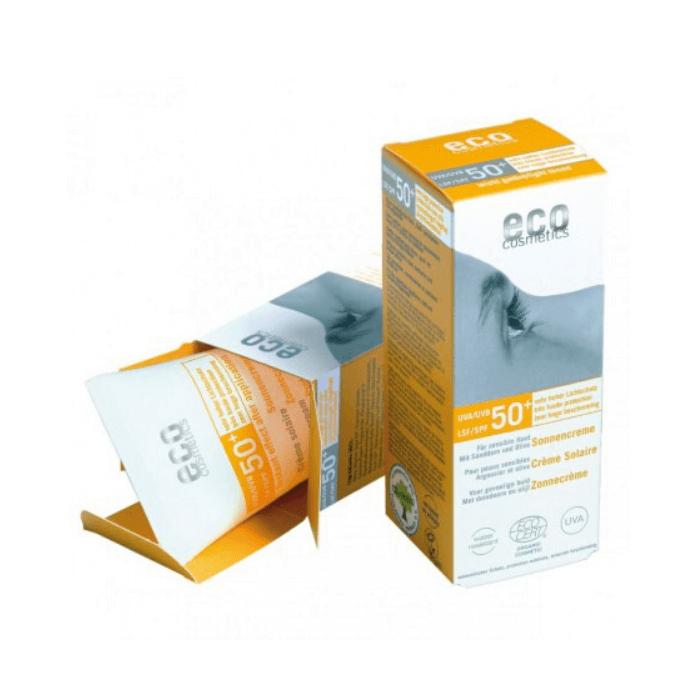 Αντηλιακή Ελαφρώς Χρωματισμένη Κρέμα Προσώπου SPF50+  75ml – Eco cosmetics
