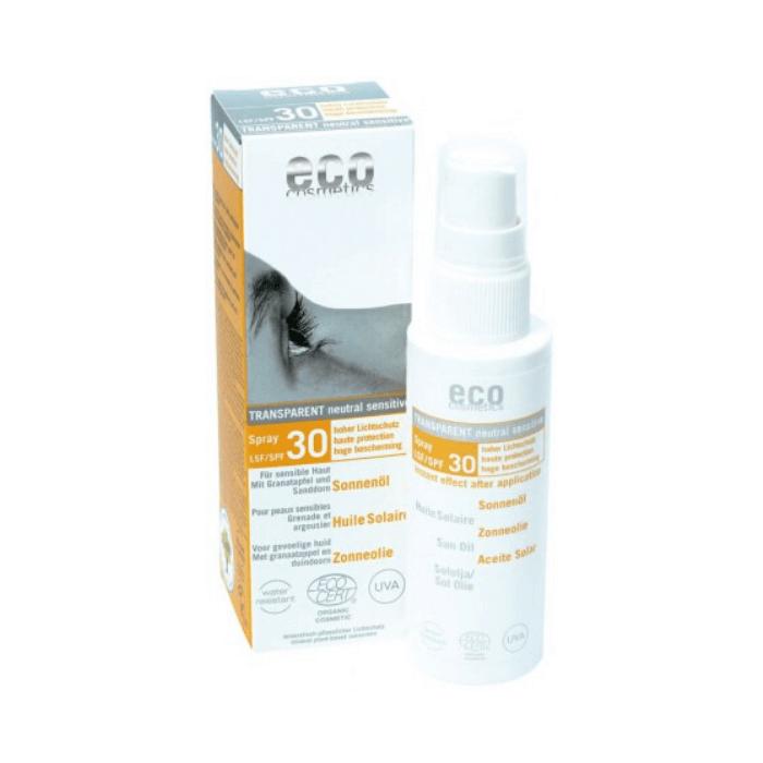 Διάφανο Aντηλιακό Έλαιο Προσώπου SPF30  50ml – Eco cosmetics