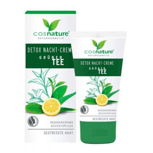 Κρέμα Νυκτός Detox με Πράσινο Τσάι 50ml – Cosnature