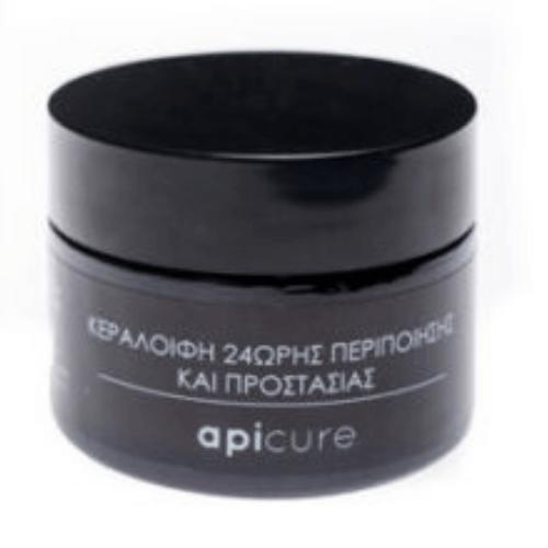 100% Φυτική κρέμα 24ης ενυδάτωσης προσώπου – Apicure
