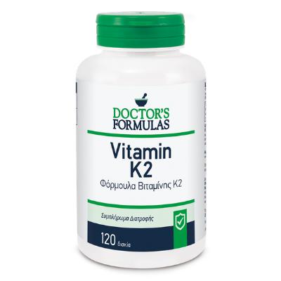 Βιταμίνη K2 για τα οστά 200mcg x120δισκία – Doctor's Formulas