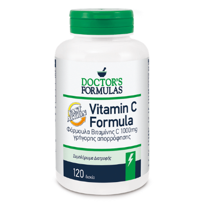 Βιταμίνη C γρήγορης απορρόφησης 1000mg x120δισκία – Doctor's Formulas