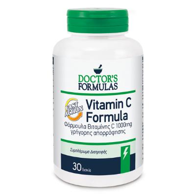 Βιταμίνη C γρήγορης απορρόφησης 1000mg x30δισκία – Doctor's Formulas