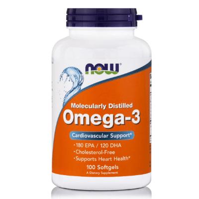 Omega-3 1000mg για το καρδιαγγειακό σύστημα x100δισκία – NOW