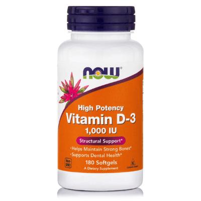 Βιταμίνη D3 1.000 IU για ασβέστιο, 180 softgels – NOW