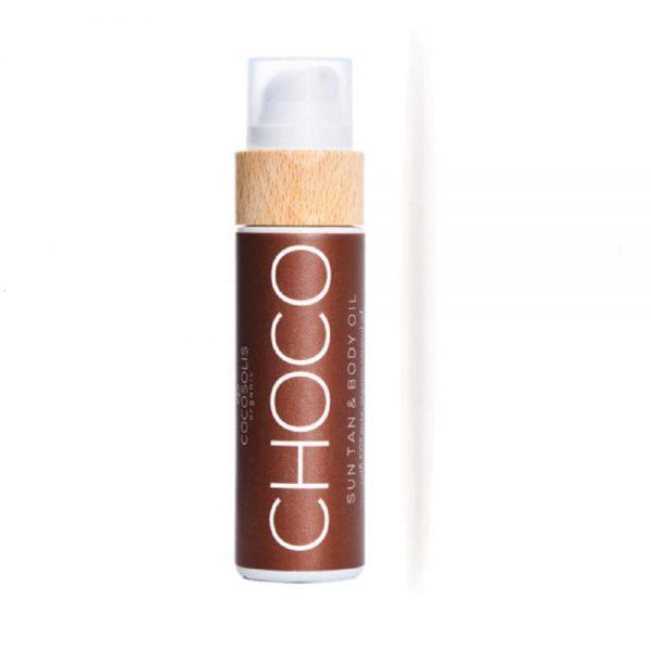 CHOCO Sun Tan Body Oil μαυριστικό 110ml- Cocosolis Organic
