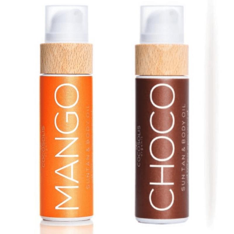 Sun Tan Body Oil μαυριστικά 2*110ml- Cocosolis Organic